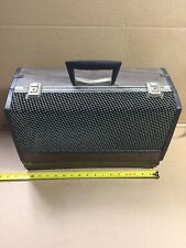New listing Vintage Alco Brown Medium Pet Carrier Carrying Case Vented Wood Looking 17x11x8
