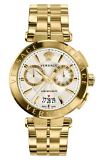 Versace Mens Aion Gold & Silver Dial Chronograph Swiss Watch