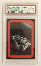 1977 TOPPS STAR WARS STICKER CARD - SERIES 2: RED - #21 THE FALCON - PSA 6