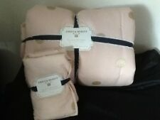 POTTERY BARN TEEN EMILY& MERITT THE GOLD DOT QUILT KING & (1) SHAM PINK NEW