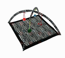 Cat Kitten Play Mat Exercise Gym 60cm x 60cm with Hanging Toys 30cm High