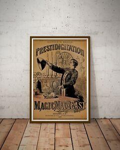 "1870 Prestidigitation Magic POSTER! (up to 24"" x 36"") - Magician - Illusions"