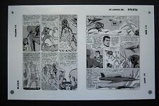 Org. Production Art JUSTICE LEAGUE OF AMERICA #9, pg 23 & 24, MIKE SEKOWSKY art