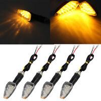 4 x 15 LED Mini Motorcycle Motorbike Turn Signal Lights Indicators Amber Lamp UK