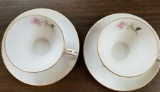 VINTAGE, TWO (2), CONTOUR CHINA, PICARDY, JAPAN, TEA CUPS & MATCHING SAUCERS,