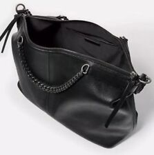 ZARA REAL LEATHER HIGH QUALITY LEATHER BAG WITH SILVER CHAIN HANDLES