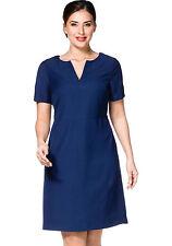 Etui-Kleid sheego CLASS mit Wollanteil Nachtblau Kurz-Größen NEU!!! KP 79,99 €