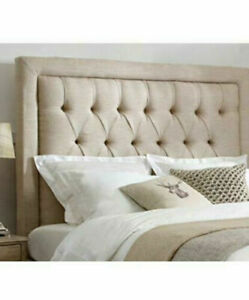 SHIMLA Design Extra Tall Wall Mounted Headboard in Chenille with Fabric Buttons