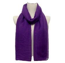 "Solid Viscose Modal Hijab Scarf Wrap Shawl Maxi Soft Islam Muslim Purple 72""x36"""