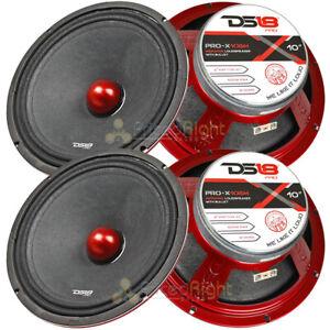 "4 DS18 PRO-X10BM 600W Max 10"" Midrange Speakers Loudspeaker With Bullet 8 Ohm"