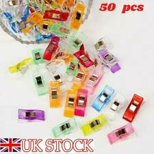 50pcs Wholesale Patchwork Fabric Quilting Sewing Knitting Craft Plastic Clips UK
