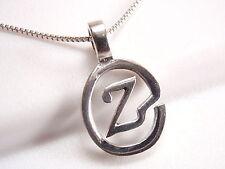 "The Letter ""Z"" Pendant 925 Sterling Silver Corona Sun Jewelry z alphabet"