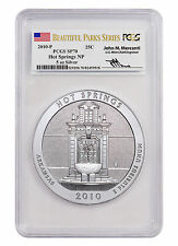 2010-P 25c 5 oz. Silver ATB Hot Springs NP PCGS SP70 (Mercanti Signed) SKU44645