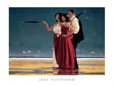 The Missing Man I by Jack Vettriano Art Print Poster Love Romance Beach 20x16