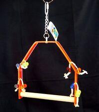 "Paradise Toys Medium Parrot Swing Perch 9""x9"" Wood Acrylic Activity 326 Caitec"