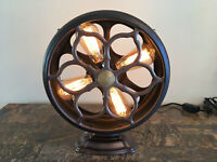 Vintage Art Deco Atwater Kent Type E Speaker Steampunk Industrial Table Lamp