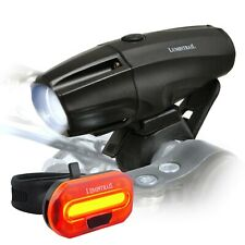 Lumintrail Bike Light 1000 Lumen USB Rechargeable LED Headlight Taillight Set