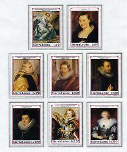 SIERRA LEONE   MNH   1303-12   Rubens  Art Paintings   XF363