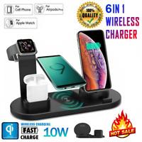 6 In 1 Schnelles QI Drahtloses Ladegerät Ladekissen Für IPhone 12 11 Pro Max X 8