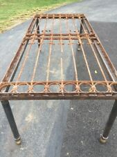 Antique Victorian Iron Gate Window Guard Architectural Salvage DiningTable #2