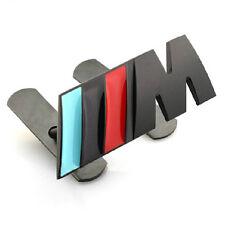 Auto M Power Grill Frontgrill Emblem Schriftzug Badge Plakette für Schwarz NEU