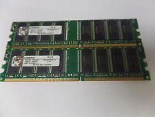 KINGSTON KVR400X64C3A/1G KINGSTON CHIPSET 2GB (2X1GB)  PC3200,184 PIN, NON-ECC
