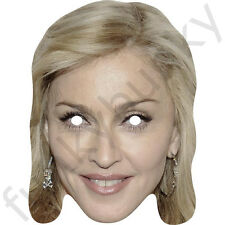 Madonna Singer Celebrity Fun Card Mask - All Our Masks Are Pre-Cut!