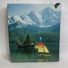 Vtg Three Ring Binder 1980s Deluxe Craft Small Catamaran Sail Boat Mountains