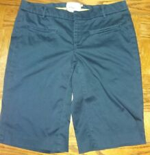 Anthropologie Elevenses Women's Size 4 Bermuda Navy Blue Short