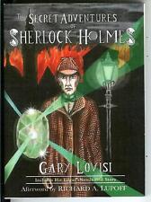 THE SECRET ADVENTURES OF SHERLOCK HOLMES by Gary Lovisi, pulp vintage pb IN DJ