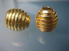 2x Kordelenden - Metall veredelt - goldfarben - Kordelstopper