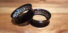 Pair Opal stone look acrylic Ear Plug Flesh Tunnels Stretcher Taper 8-30mm
