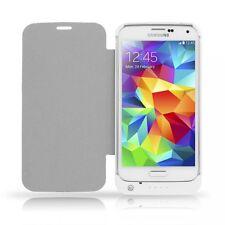 Flip Cover Case con Batteria esterna Slim Bianca per Samsung Galaxy S5 hsb