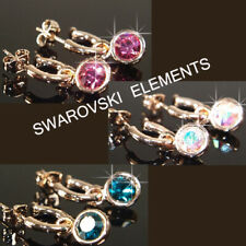SALE  Rose Gold Plated Earrings made Swarovski Crystal Prom Xmas E490Gp 2 choice