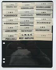 More details for lms luggage labels, morecambe birmingham manchester newport lancaster [19414]