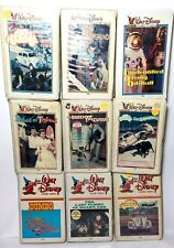 Walt Disney Home Video White Clamshell Lot of 9 VHS Ugly Dachshund UFO Herbie