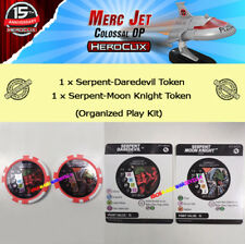 HEROCLIX MERC JET COLOSSAL OP KIT: 2 Daredevil/Moon Knight Serpent Tokens +Cards