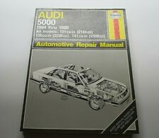 Audi 5000 ALL MODELS 131, 136, 141 cu in 1984 thru 1988 Haynes Repair Manual