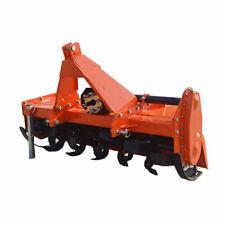 "New Heavy Duty 59"" 3 Point Rotary Tractor Farm Tiller Htl150 Green Color Cat 1"
