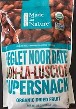 Made in Nature ORGANIC Sun Dried Pitted Dates~NON GMO ~Fiber rich Net 32 OZ