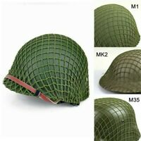 WW2 Paratrooper Solider Helmets Net Cover Green for M1 M35 MK2 Military Vintage