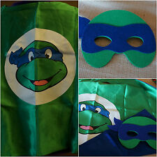 TMNT KIDS CAPE AND MASk LEONARDO BLUE TEENAGE MUTANT NINJA TURLTLE COSTUME