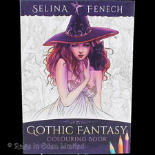 *GOTHIC FANTASY*  Dragons, Witches, Vampires Colouring Book By Selina Fenech