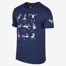 NWT Nike Court Rafa Premier Wins 9 French Open Tennis Shirt 887005-495 Nadal L M