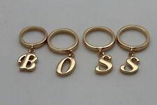 Pretty Fashion Jewelry Boss Charm Bejeweled Women Gold Metal 4 Finger Ring Set