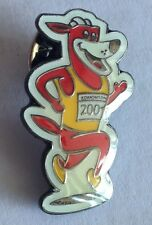 Edmonton World Athletics Championships Running Dog Pin Badge Rare Vintage (F3)