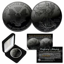 2019 BLACK RUTHENIUM 1 Troy Oz 999 Silver American Eagle Coin with Deluxe Box