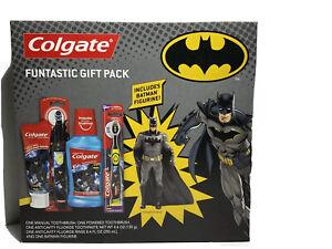 Batman Colgate Toothbrush Set Toothpaste Funtastic Gift Pack Figurine Included M