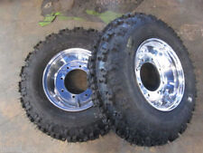 KFX400/450F NEW 2 FRONT QUADBOSS TIRES ON HEAVY DUTY polished rims 21X7-10