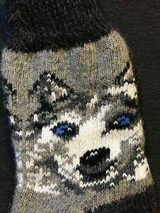 Socks women's warm winter woolen Husky Russia